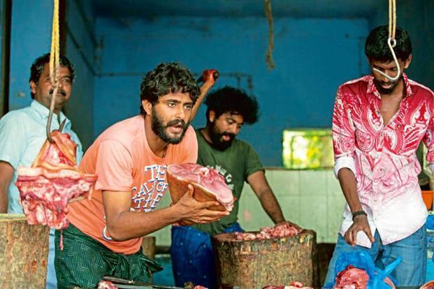 A scene from 'Angamaly Diaries', which shows the meat-eating culture of the small town in Kerala.