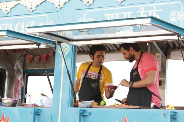 Saif Ali Khan in a still from 'Chef'.