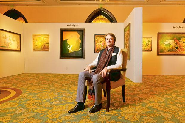 Sotheby's Edward Gibbs says a large number of buyers from the younger generation feels more comfortable bidding online. The number from India has doubled in last two years. Photo: Aniruddha Chowdhury/Mint