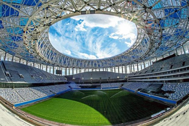A view of the Nizhny Novgorod Stadium. Photo: AFP