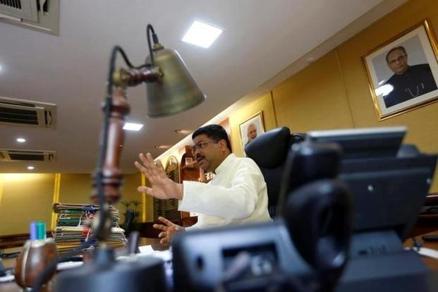 Oil minister Dharmendra Pradhan. India has started importing crude oil from the US at $2 a barrel cheaper than Dubai crude. Photo: Reuters