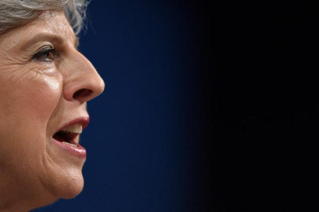 A file photo of UK Prime Minister Theresa May who could go for a cabinet reshuffle after an 19-20 October summit in Brussels where May. Photo: AFP (AFP)