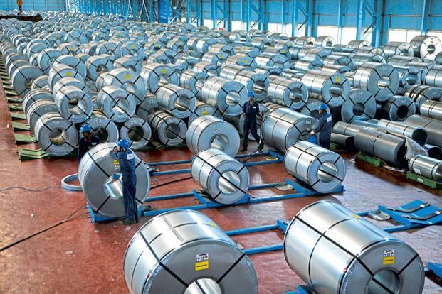 Joint Plant Committee (JPC) data shows a 4.1% increase in India's domestic steel consumption during the quarter. Photo:  Abhijit Bhatlekar/Mint