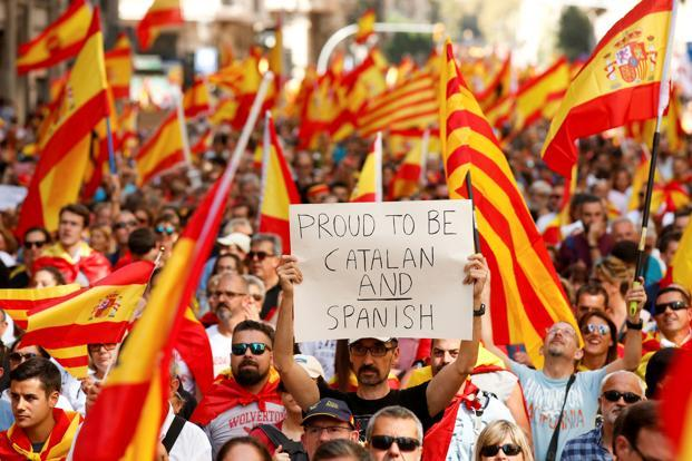 The Catalonia crisis is a strong hint from history that Europe needs to develop a new type of sovereignty. Photo: Reuters