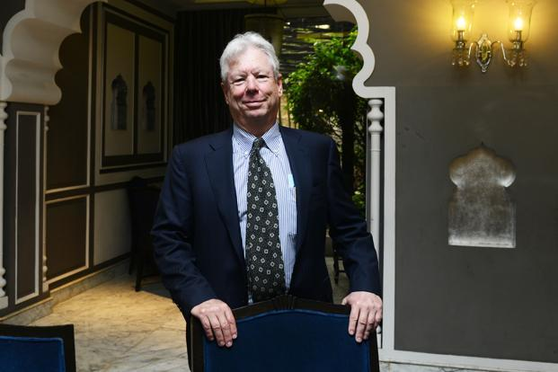 Richard H. Thaler, the winner of the 2017 Nobel Prize in economics. Photo: Ramesh Pathania/Mint