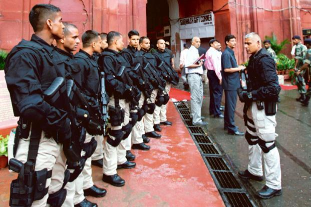 A file photo. SPG officers during operational duties would get Rs27,800 annually and on non-operational work would get Rs21,225 a year as dress allowance. Photo: Reuters (Reuters)