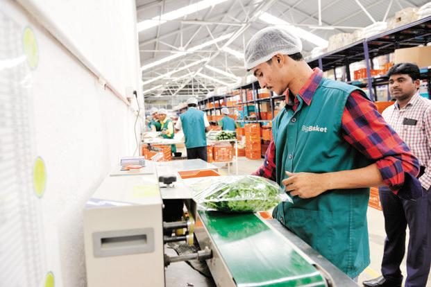 BigBasket has its task cut out as Flipkart and Amazon are planning to enter the online groceries market in a big way, given the potential it holds. Photo: Hemant Mishra/Mint