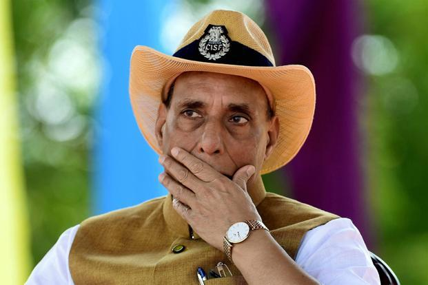 Union home minister Rajnath Singh attends CISF parade at Arakkonam in Tamil Nadu on Monday. Photo: PTI (PTI)