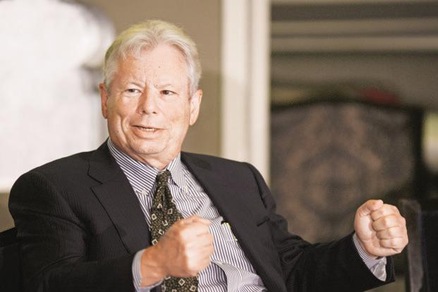 A file photo of Richard Thaler. Photo: Ramesh Pathania/Mint