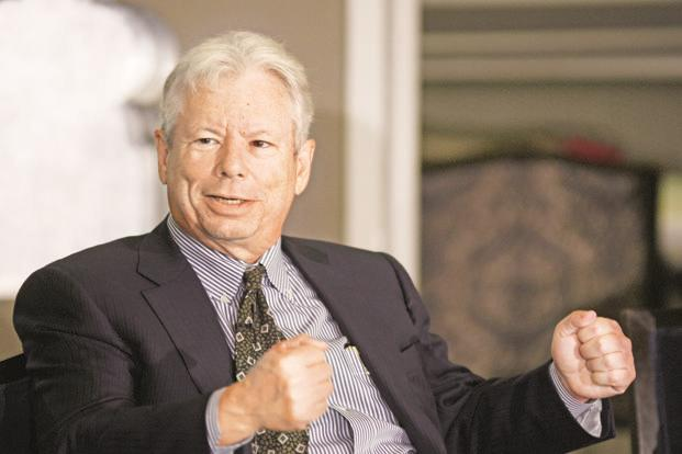 Richard Thaler has won the 2017 Nobel Prize in Economics for his work in behavioural economics. Photo: Ramesh Pathania/Mint