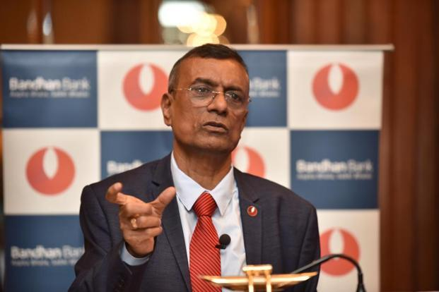 Bandhan Bank CEO Chandra Shekhar Ghosh says the bank has appointed investment bankers to work out on the modalities of the IPO, likely to hit the capital market by August next year. Photo: Indranil Bhoumik/Mint (Indranil Bhoumik/Mint)