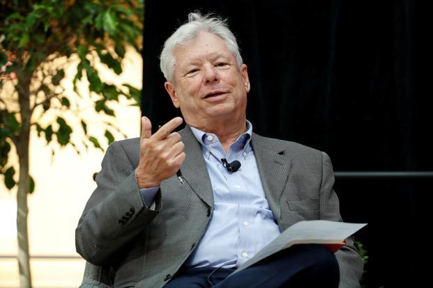 2017 Nobel Economics Prize winner Richard Thaler speaks during a news conference after his victory, in Chicago, on 9 October. Photo: Reuters