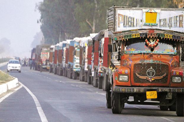 Truck rentals may recede as the festive season demand for goods wears off. Photo: Mint