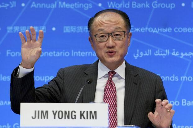 World Bank president Jim Yong Kim speaks during a news conference at World Bank/IMF Annual Meetings in Washington on 12 October. Photo: AP