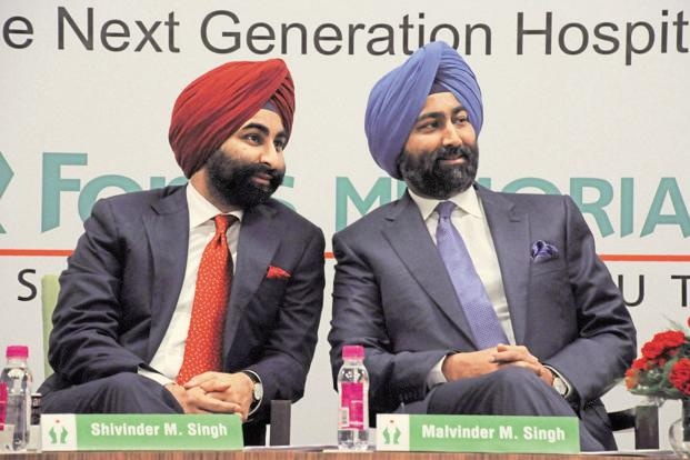 The Supreme Court had on 31 August refused to permit Malvinder (right) and Shivinder Singh to sell their stake in Fortis Healthcare Ltd. Photo: Parveen Kumar/HT (Parveen Kumar/HT)