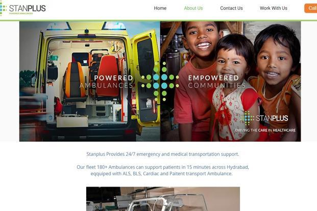 StanPlus operates over 300 ambulances in Hyderabad and adjoining towns in Andhra Pradesh and Telangana.