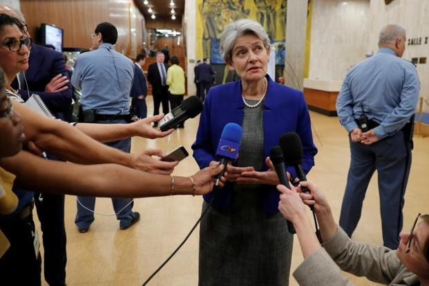 Unesco director-general Irina Bokova expressed her disappointment over the withdrawal of the US and Israel from the UN's cultural agency. Photo: Reuters
