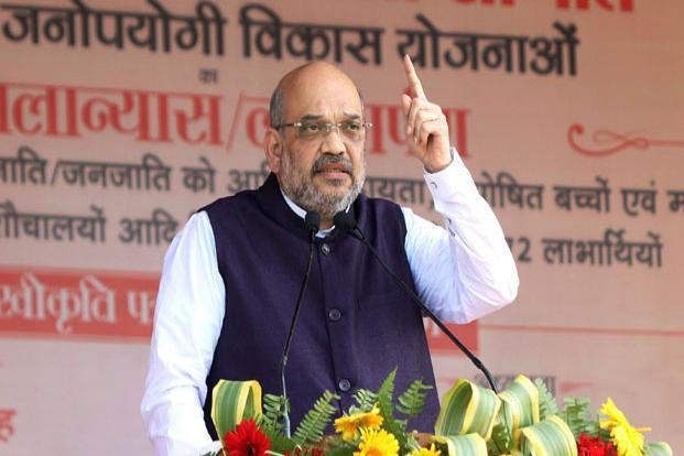 BJP president Amit Shah said that while his son Jay Amit Shah's firm Temple Enterprise achieved a turnover of Rs80 crore, it incurred a loss of Rs1.5 crore. Photo: PTI