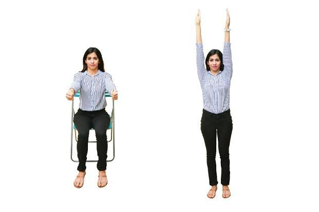 Upper arms strength; and Upper arm stretch