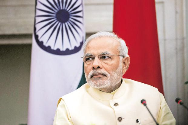 Narendra Modi has aggressively defended his record, comparing it positively to the stagnation presided over by the previous government at various points and attacking 'pessimists'  who were 'exaggerating' problems. Photo: Bloomberg (Bloomberg)