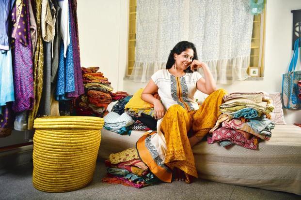 Meghna Nayak at her Kolkata studio. Photographs by Indranil Bhoumik/Mint (Meghna Nayak at her Kolkata studio. Photographs by Indranil Bhoumik/Mint)