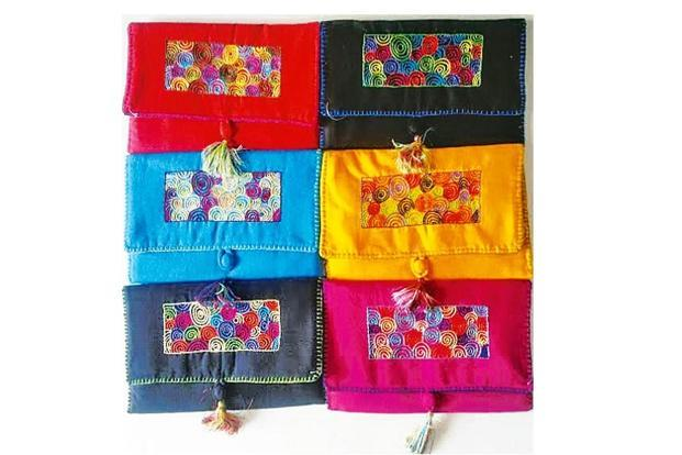 Embroidered pouches by Belaku Trust. Photo: Belaku Trust/Hosa Belaku Artisans Foundation