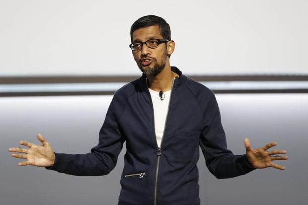 Google CEO Sundar Pichai also unveiled a programme called 'Grow with Google' aimed at training Americans how to get jobs or grow their businesses. Photo: Reuters