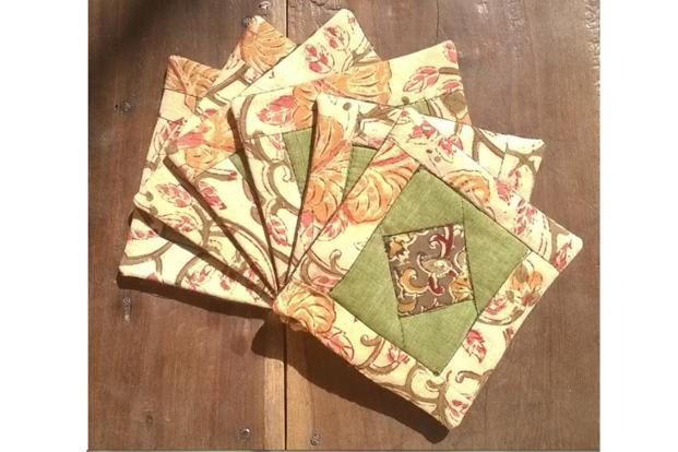 Tea coasters by Kriti. Photo: Kriti Trust
