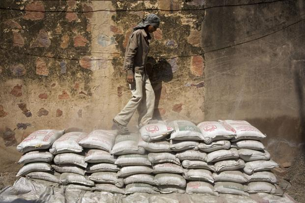 Cement sales volume rose about 18% to 5.96 million tonnes in the quarter. Photo: Bloomberg