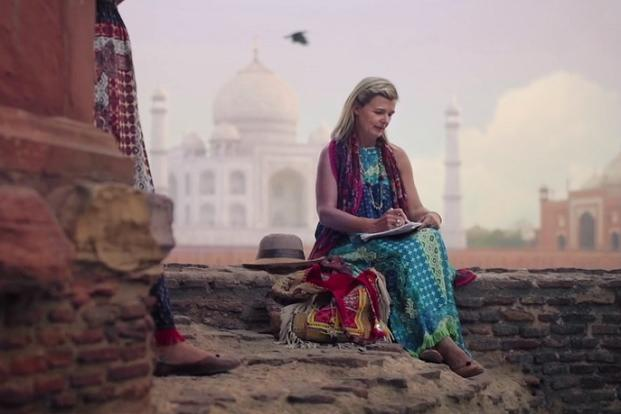 A screen grab from Incredible India 2.0's campaign, featuring Emma Puttick, a Brisbane-based fashion designer.