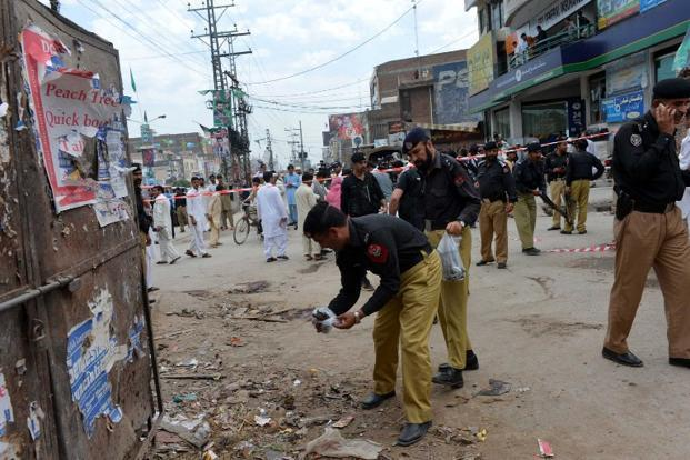 Six policemen killed, 24 injured in blast in Pakistan