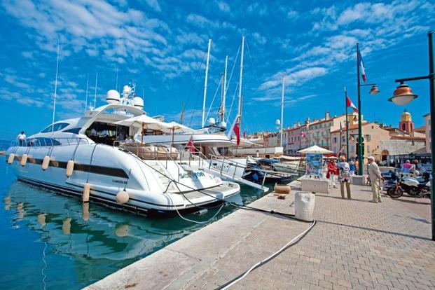 Luxury yachts at the port of St Tropez in southern France. Photo: Alamy
