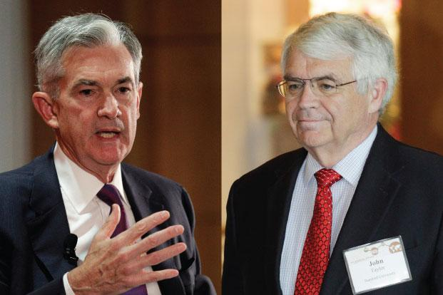 The choice between Fed board governor Jerome Powell (left) and Stanford University economist John Taylor has the potential to jolt the bond market in a year defined by low volatility and a tug-of-war between bulls and bears that's kept yields in a tight range. Photo: AP & Reuters