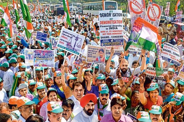 Opposition to hold protests ahead of demonetisation anniversary