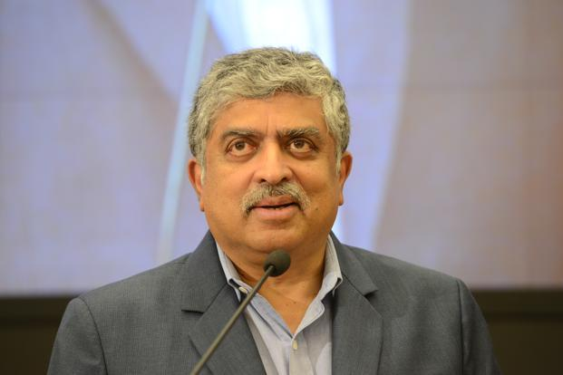 Infosys chairman Nandan Nilekani on Tuesday declared that the company had found no evidence of wrongdoing in the Panaya acquisition in 2015.  Photo: Hemant Mishra/Mint