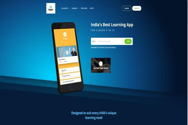 Toppr is a learning app and website that provides courses complementing the subjects taught in schools.