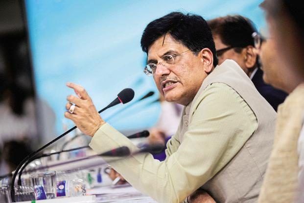 Railway minister Piyush Goyal. Indian Railways has a track length of around 115,000km, making it the world's largest railway network under a single management. Photo: Pradeep Gaur/Mint
