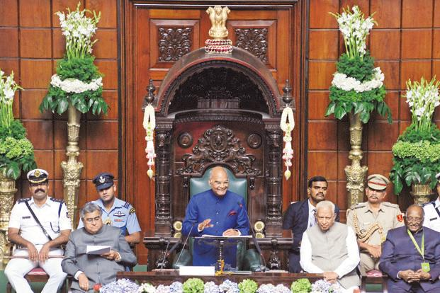 President Ram Nath Kovind addressing the joint session of the Karnataka assembly to commemorate the Diamond Jubilee celebrations of Vidhan Soudha in Bengaluru on Wednesday. Photo: Hemant Mishra/Mint