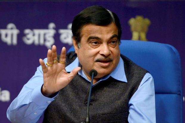 Union minister for road transport & highways Nitin Gadkari addresses a press conference in New Delhi on Wednesday. Photo: PTI