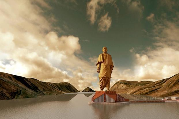 The SOU, a memorial dedicated to independence movement leader and India's first home minister Vallabhbhai Patel, will be installed at the Sadhu Bet Island in Gujarat's Narmada district, and will be the tallest statue in the world. Photo: Reuters