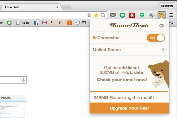 Tunnel Bear VPN for Chrome can secure all your online communication on the browser.