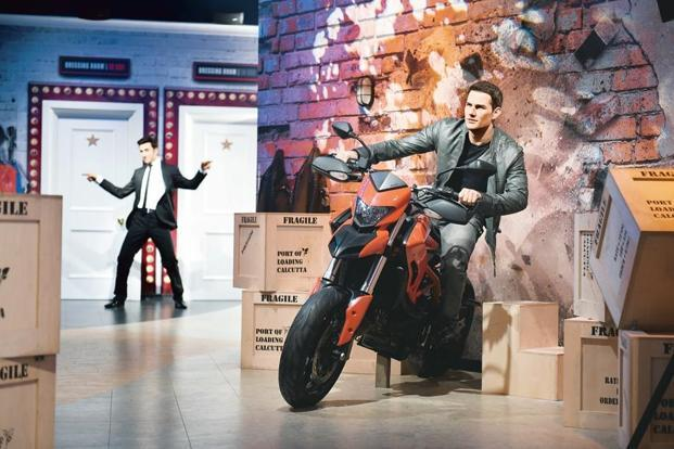 A wax figure of actor Tom Cruise. Madame Tussauds, Delhi