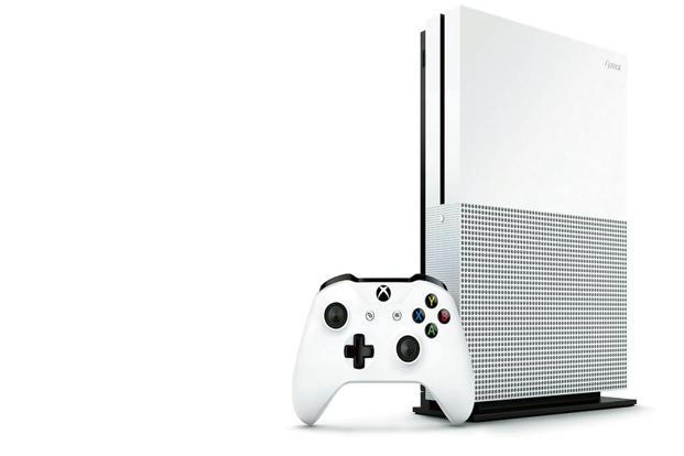 The Xbox One S looks good too, dressed in white with black accents around the optical drive and parts of the front panel