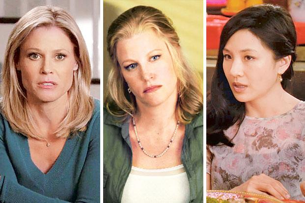 (from left) Claire Dunphy ('Modern Family'), Skyler White ('Breaking Bad') and Jessica Huang ('Fresh Off The Boat).