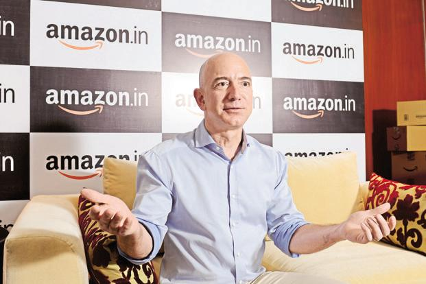 A file photo of Jeff Bezos, founder Amazon.com. Photo: Hemant Mishra/Mint