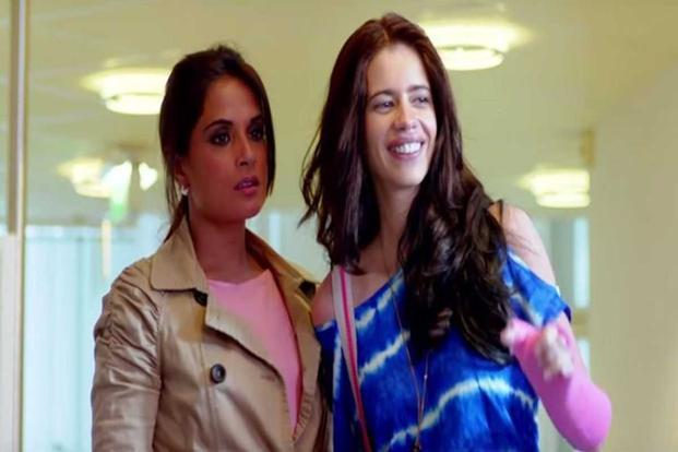 Richa Chadha (left) and Kalki Koechlin in a still from the movie 'Jia aur Jia'.