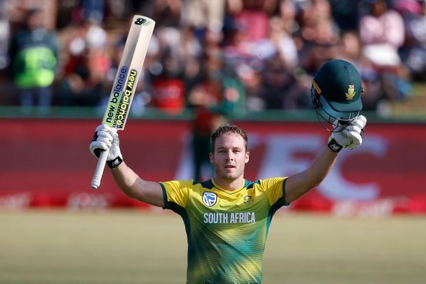 David Miller smashed seven fours and nine sixes in his record-setting century in the South Africa vs Bangladesh T20 match on Sunday. Photo: AFP