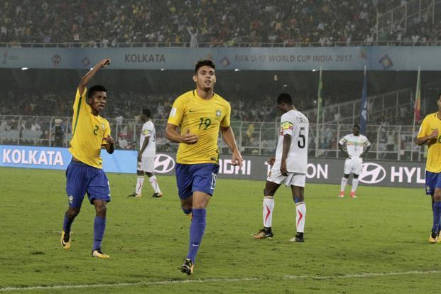 With 56,432 spectators turning up at the Salt Lake Stadium to watch the Brazil versus Mali match, the total attendance of the Fifa Under-17 World Cup reached 12,80,459. Photo: AP