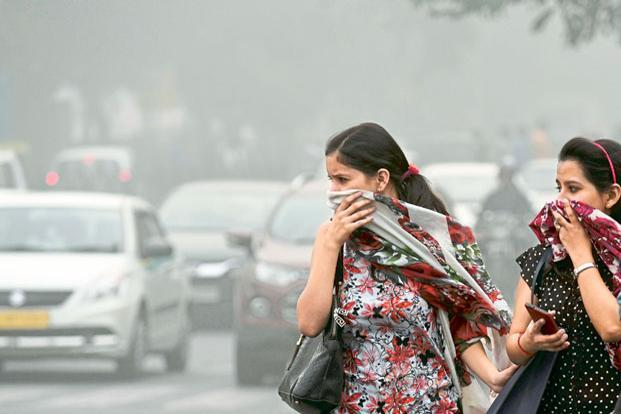 The Lancet study says annual average of PM2.5 concentrations in India are 59g/m³ with a maximum measurement of 176g/m³ in Gwalior while according to WHO it should not exceed 10g/m. Photo: Hindustan Times