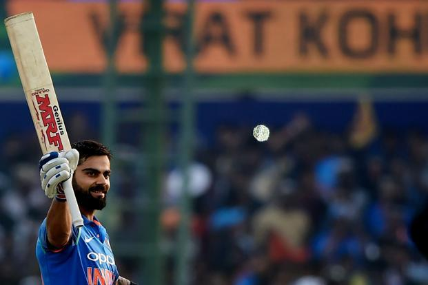Virat Kohli scored 263 runs in the home series against New Zealand. Photo: AFP